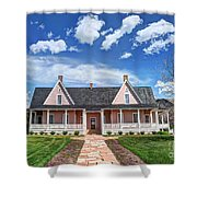 Brigham Young Forest Farm Home Shower Curtain