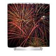 Bright Colorful Fireworks Shower Curtain