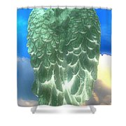 Bright Glow Angle Wings Shower Curtain