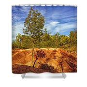 Bright Light On The Badlands Shower Curtain