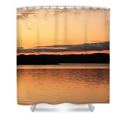 Bright Morning Skies On The Lake Shower Curtain
