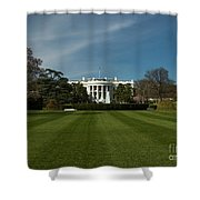 Bright Spring Day At The White House Shower Curtain