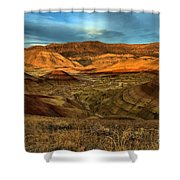 Brightly Painted Hills Shower Curtain