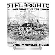 Brighton Beach Hotel, 1880 Shower Curtain