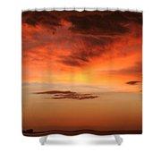 Brilliant Sunrise Over Montevideo Shower Curtain