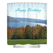 Bristol Harbor Birthday  Shower Curtain