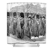 Britain: Fusiliers, 1854 Shower Curtain