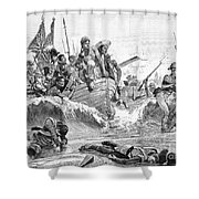 British At Aboukir, 1801 Shower Curtain