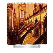 British Christian Cathedral  Shower Curtain