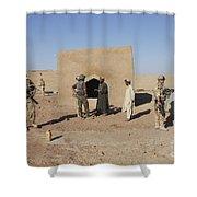 British Soldiers On Foot Patrol Shower Curtain
