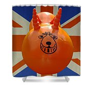 British Space Hopper Shower Curtain
