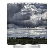 Brittany Coast Storm Shower Curtain