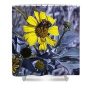 Brittlebush Bee Shower Curtain