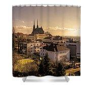 Brno Skyline  Shower Curtain