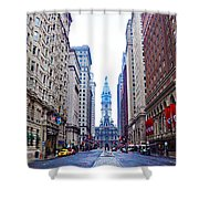 Broad Street Avenue Of The Arts Shower Curtain
