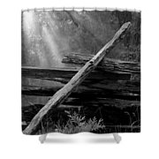 Broken Fence In Morning Light At Yosemite Shower Curtain
