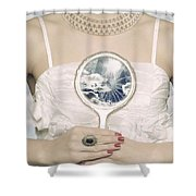 Broken Handmirror Shower Curtain by Joana Kruse