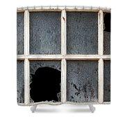 Broken Window Shower Curtain