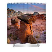 Brokentop Hoodoo Sunset Shower Curtain