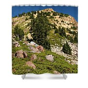 Brokeoff Mountain Shower Curtain