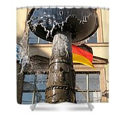 Bronze Fountain Shower Curtain
