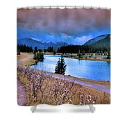 Brooding Skies Shower Curtain