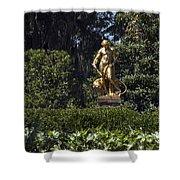 Brookgreen Golden Statue Shower Curtain