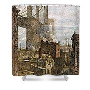 Brooklyn Bridge, 1882 Shower Curtain
