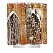 Brooklyn Bridge Arch Shower Curtain
