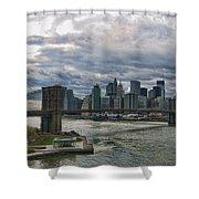 Brooklyn Bridge Carousel Shower Curtain