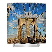 Brooklyn Bridge Summer Shower Curtain