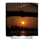 Brooklyn Bridge Sunrise Shower Curtain