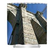 Brooklyn Bridge Tower I Shower Curtain