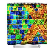 Brooklyn Tile Abstract Shower Curtain
