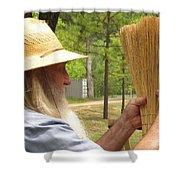 Broom Maker Shower Curtain