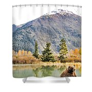 Brown Bear 207 Shower Curtain