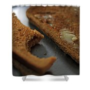 Brown Bread With Butter Shower Curtain