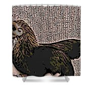 Brown Red Old English Game Bantam Shower Curtain