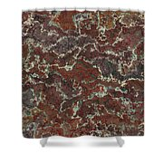 Brown Stone Abstract Shower Curtain