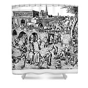 Bruegel: Ice Skaters Shower Curtain
