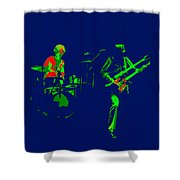 Bruford And Rutherford Blue 2 Shower Curtain