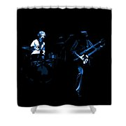 Bruford And Rutherford Blue Shower Curtain