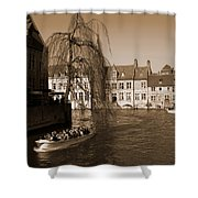 Bruges Canal Shower Curtain
