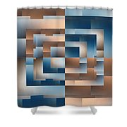Brushed 12 Shower Curtain by Tim Allen