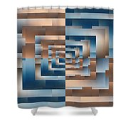 Brushed 13 Shower Curtain by Tim Allen