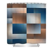 Brushed 9 Shower Curtain by Tim Allen