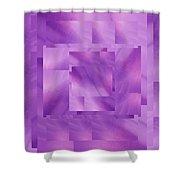 Brushed Purple Violet 10 Shower Curtain