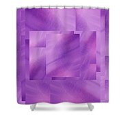 Brushed Purple Violet 2 Shower Curtain
