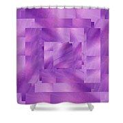 Brushed Purple Violet 4 Shower Curtain