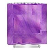 Brushed Purple Violet 5 Shower Curtain